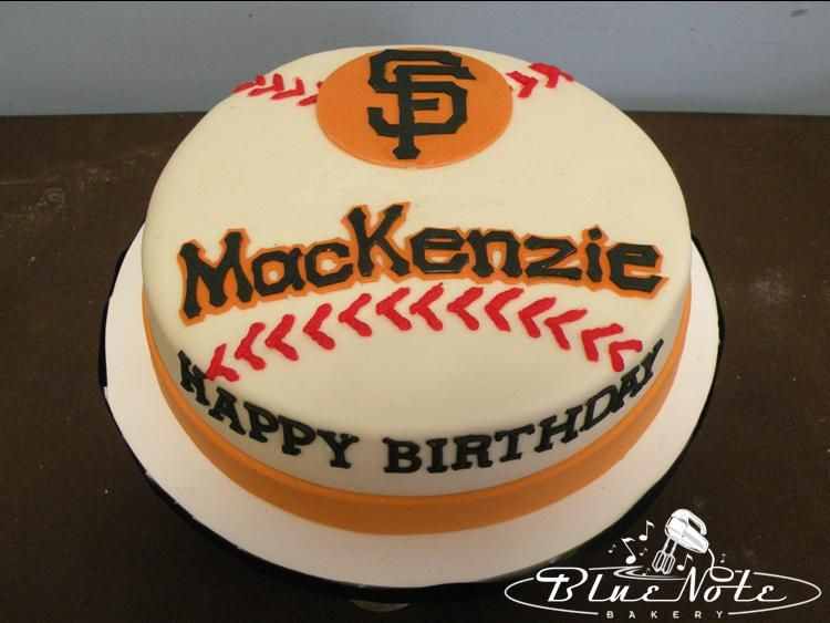 San Francisco Giants Birthday Cake Blue Note Bakery Austin
