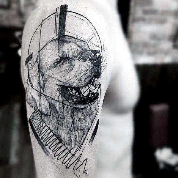 60 Sketch Tattoos für Männer – künstlerische Design-Ideen - Mann Stil   Tattoo