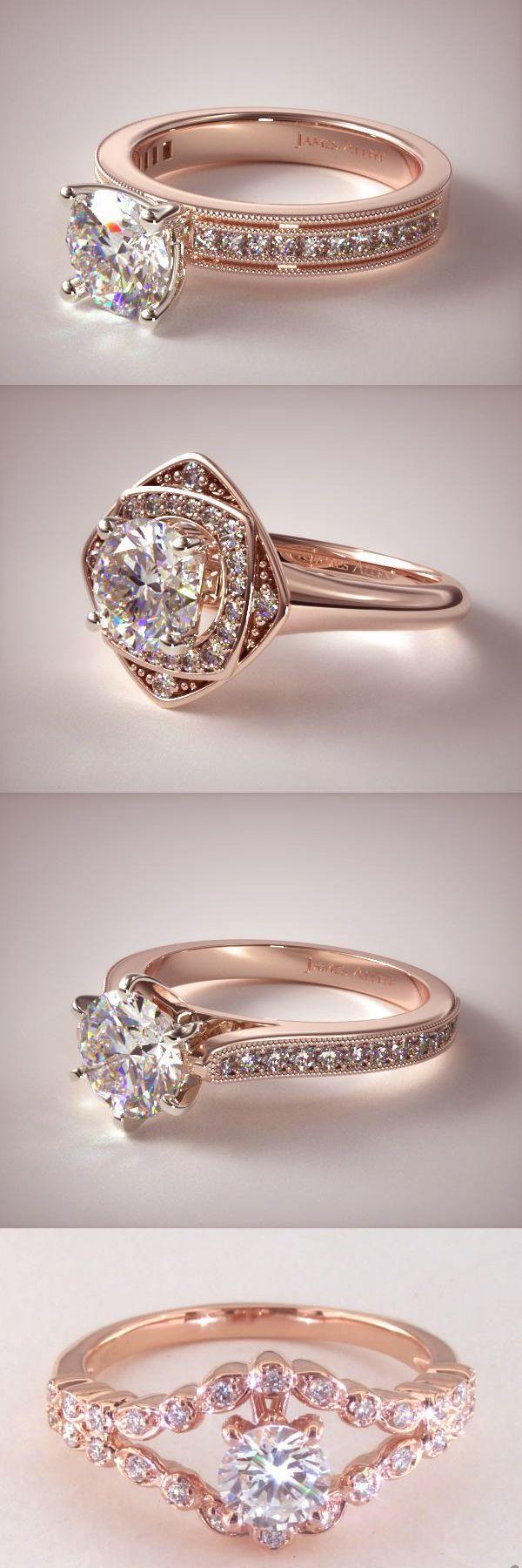 35 Vintage Rose Gold Engagement Rings Rose gold