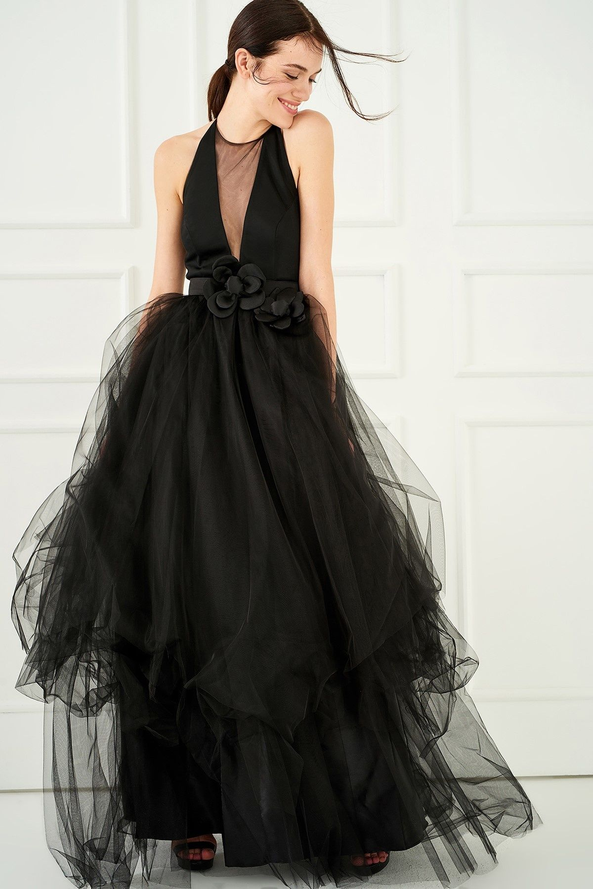 Siyah Gogus Dekolteli Elbise Trendyolmilla Trendyol Kadin Moda Stilleri Giyim