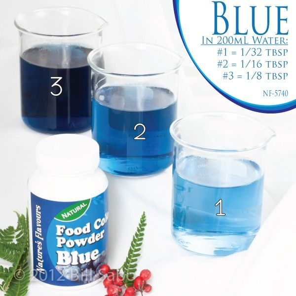 natural organic blue food color powder | Chocolate | Pinterest ...