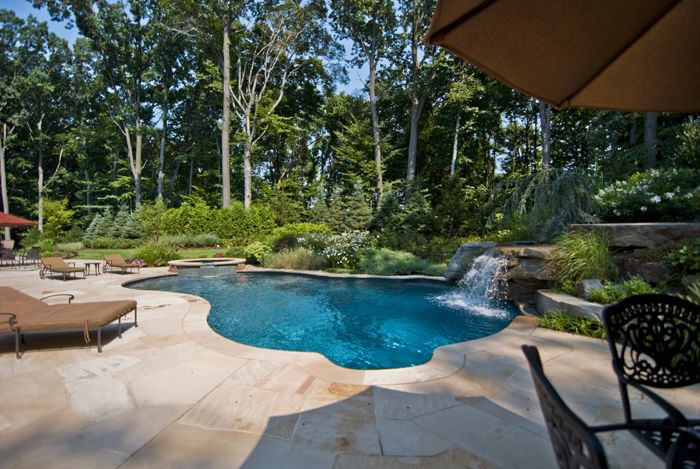 Inground Pool Surround Ideas inground swimming pool deck backlight Pools With Outdoor Kitchens Luxury In Ground Swimming Pool And Spa With Patio Design Ideas