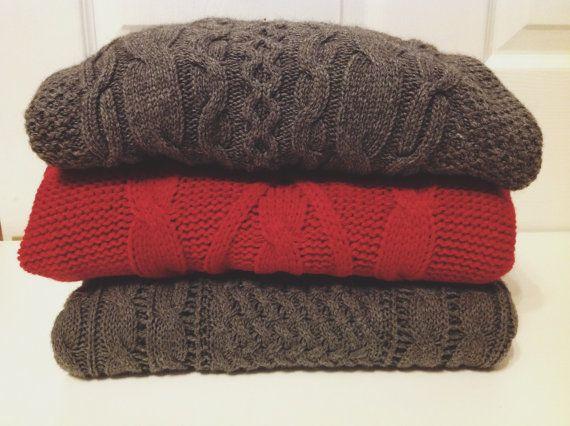 SALE Cable Knit Vintage Chunky Sweater oversized by modayarte, $20.00