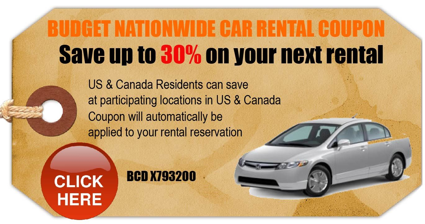 30 Off Budget Rental For Van To Disney Car Rental Coupons Budget Car Rental Coupons Budget Car Rental