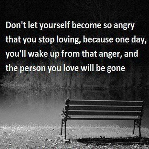 Withholding love when your angry will destroy trust and
