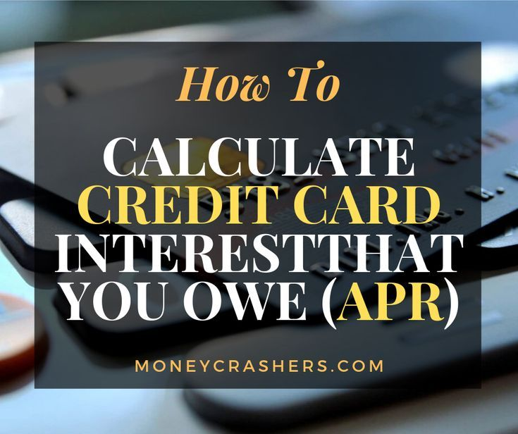 How to calculate credit card interest that you owe apr