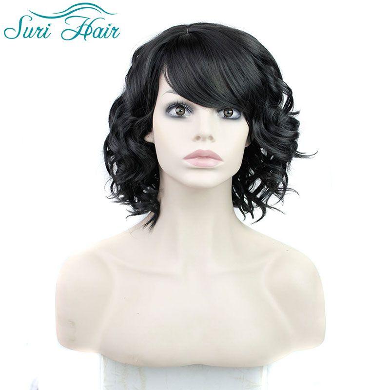 $20.41 (Buy here: https://alitems.com/g/1e8d114494ebda23ff8b16525dc3e8/?i=5&ulp=https%3A%2F%2Fwww.aliexpress.com%2Fitem%2FSweet-Medium-Wavy-black-Side-Bang-Fluffy-Women-s-Synthetic-Wig-Graceful-Medium-Capless-Stylish-Black%2F32648853018.html ) Short Black Wig With Bangs Short Wigs For Black Women Perruque Synthetic Women Afro Curly Wig Cosplay Lolita Wig Fake Hair for just $20.41