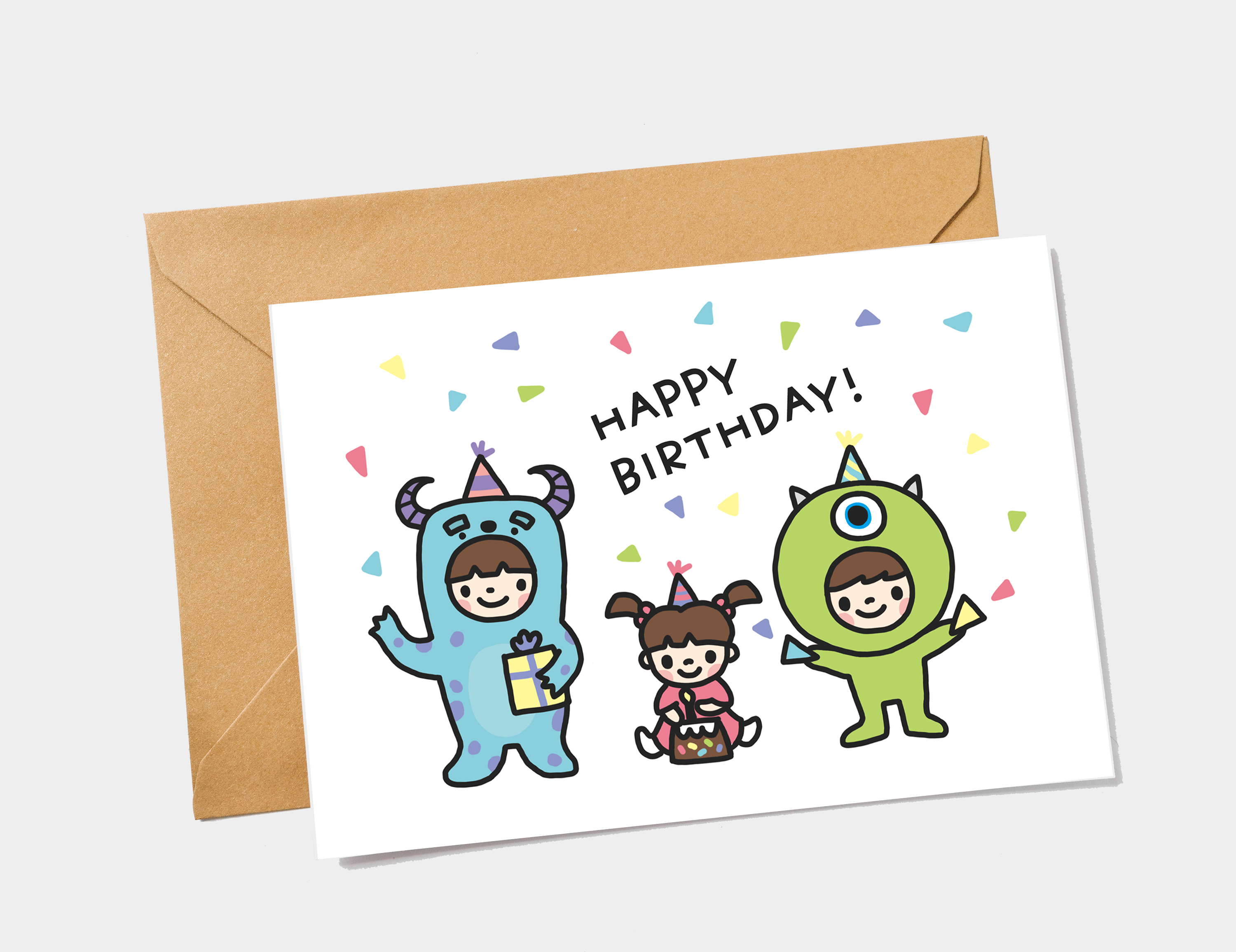 Monsters Inc Birthday Card Mike Sulley And Boo Card Etsy Funny Birthday Cards Birthday Card Printable Funny Fathers Day Card