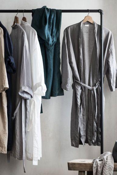 Dressmaking Fabric Fashion Stone Washed 100/% Linen Silver Grey