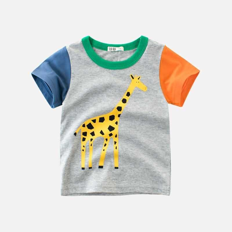Boy Kids Casual Short Sleeve Tops Blouses Cotton Sof Child T Shirt Tees Clothes