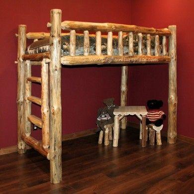 Or This Loft Loft Bed Log Furniture