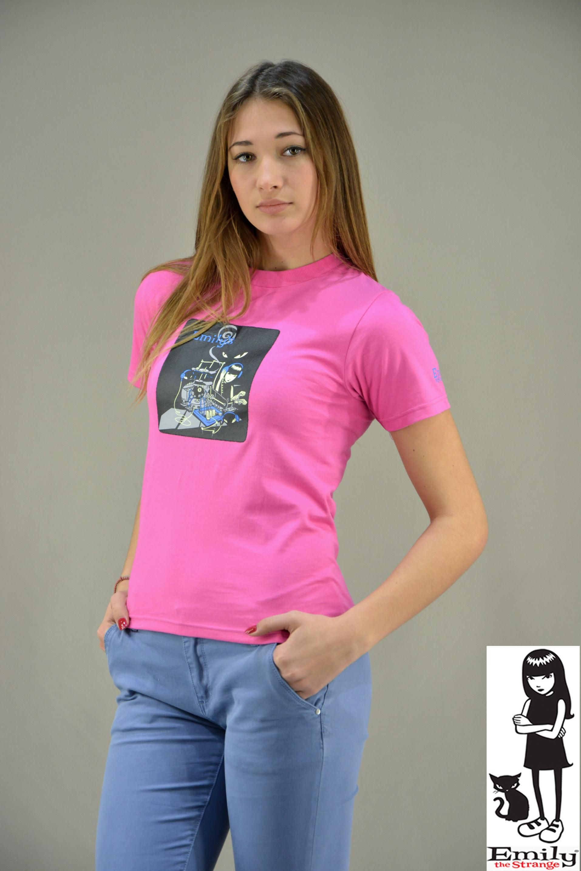 Γυναικείο t-shirt Emily DJ MPLU-0829-Gfc  273f6fea917
