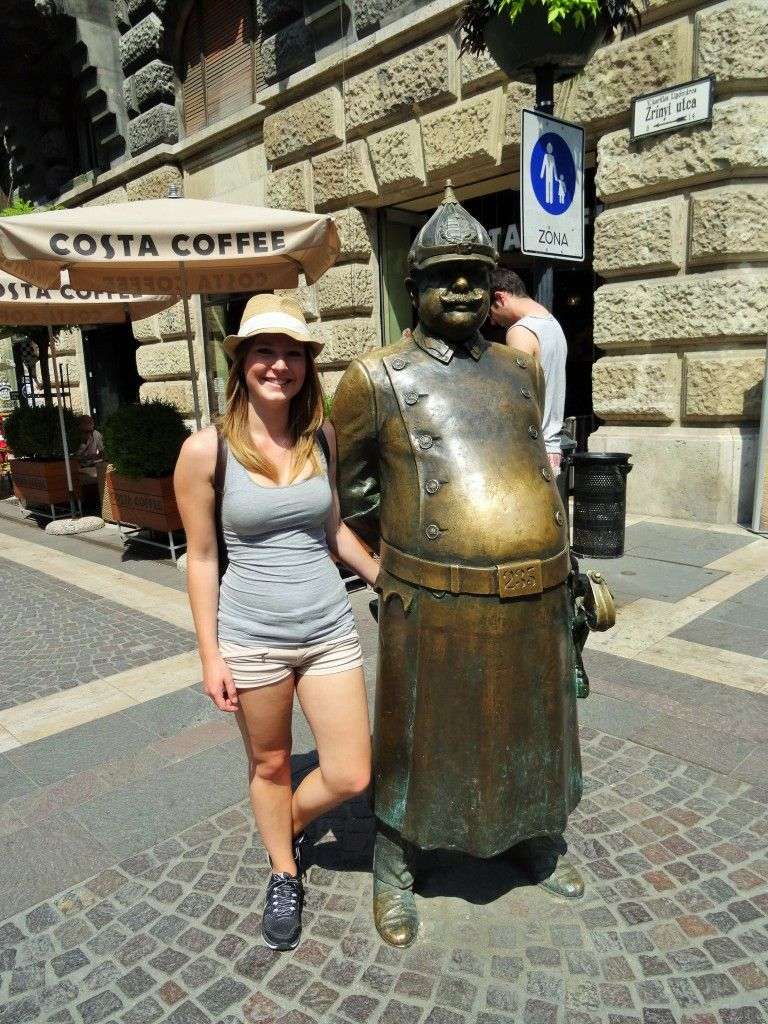 lucky police man in budapest
