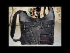 Šiť džínsovú tašku.  Master class.