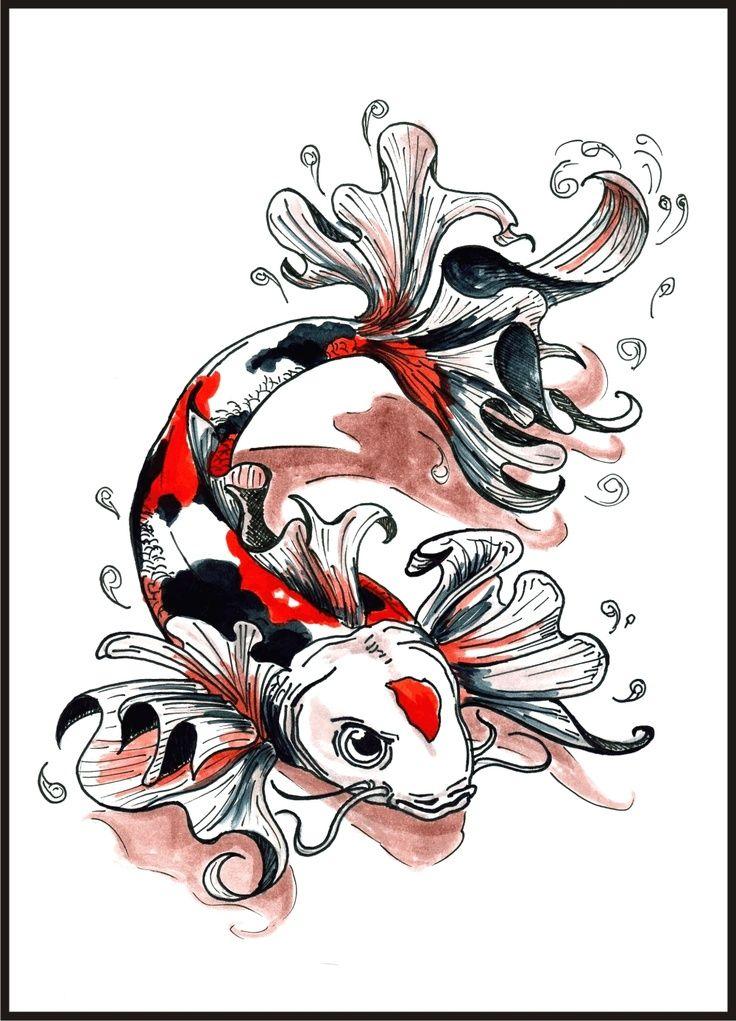 Great koi fish tattoo idea behind blue eyes for Koi japones
