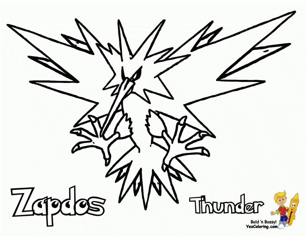 Pokemon Coloring Pages Zapdos Pokemon Coloring Pages Zapdos