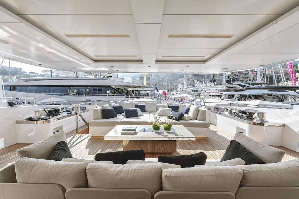 One Of The Key Characteristics Of The Yacht Are Large Exterior Spaces Typified On The Upper