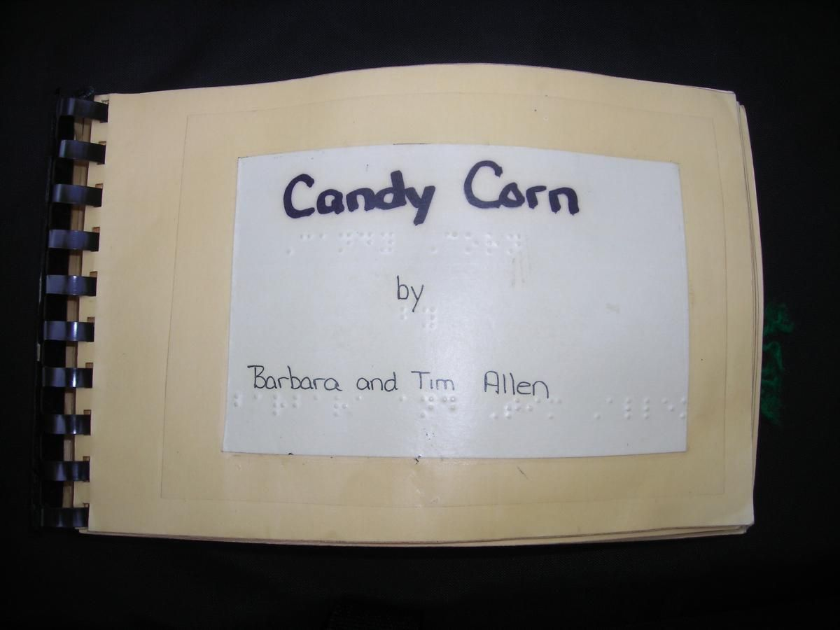 Candy Corn Creating A Tactile Book For Halloween