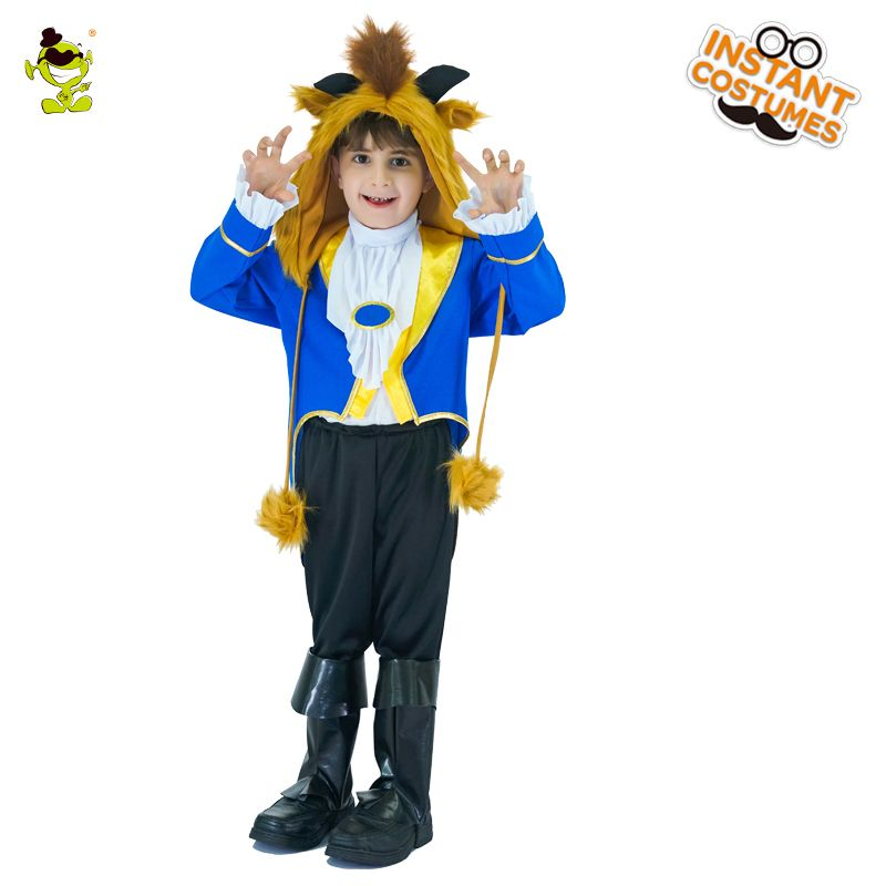 Boys Beast Costume Beauty and The Beast Fancy Dress Prince Outfit Age 3-12 NEW