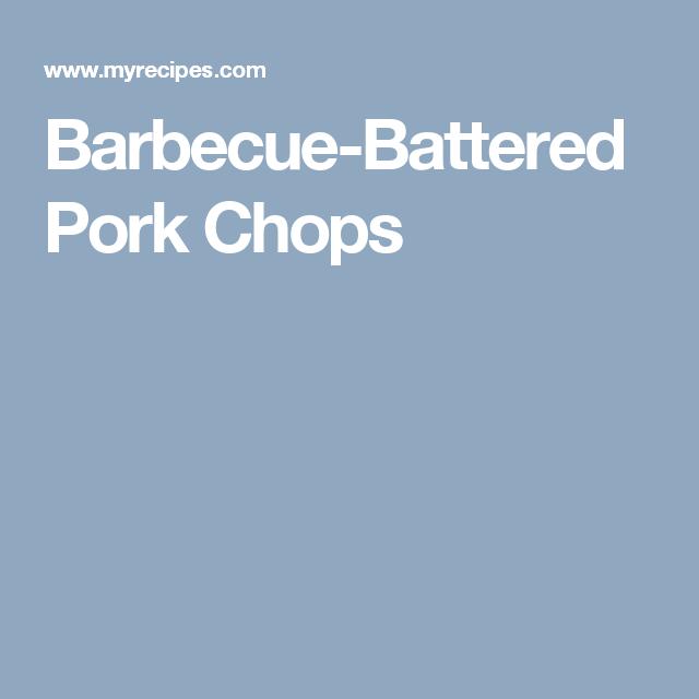 Barbecue-Battered Pork Chops