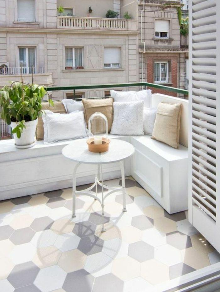 1001 ideas para decorar el balc n con lindas fotos de for Sofa terraza madera