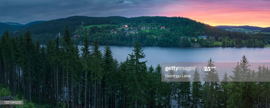 Panoramic View Of Lake Titisee One Of The Most Popular Places Of In 2020 Black Forest Germany Germany Photography Lake