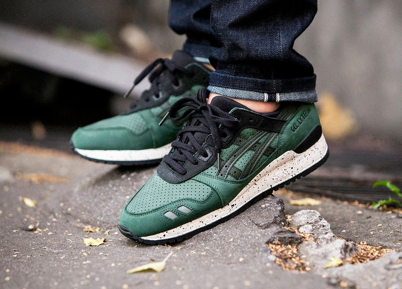 asics gel lyte iii after hours green