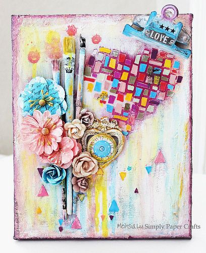 Love Art Mixed Media Canvas Mixed Media Things I M Going
