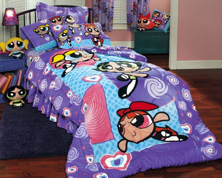girls bedding | Powerpuff Girls Psychedelic - BED IN A BAG - Twin ...