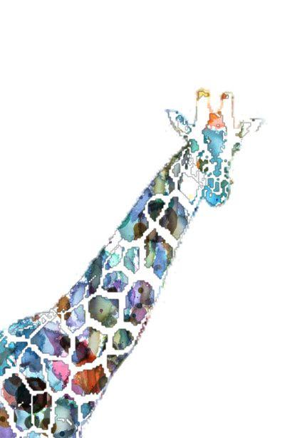 Original Pop Art Large abstract contemporary giraffe painting ...