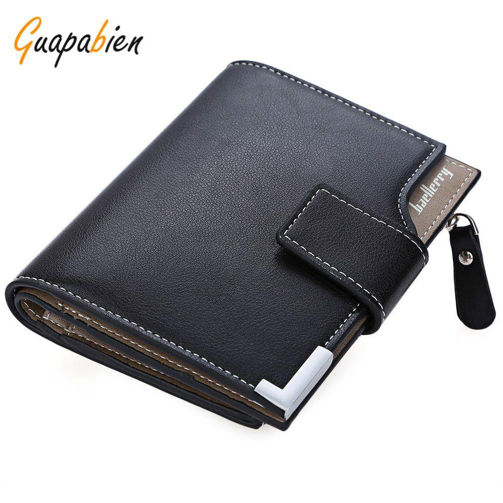 $5.68 (Buy here: https://alitems.com/g/1e8d114494ebda23ff8b16525dc3e8/?i=5&ulp=https%3A%2F%2Fwww.aliexpress.com%2Fitem%2FGuapabien-New-Brand-PU-Leather-Card-Holder-Coins-Pockets-Mens-Wallet-Purses-Men-Short-Wallets-Black%2F32780211159.html ) Guapabien New Brand PU Leather Card Holder Coins Pockets Mens Wallet Purses Men Short Wallets Black Bifold Wallet With  Zipper for just $5.68