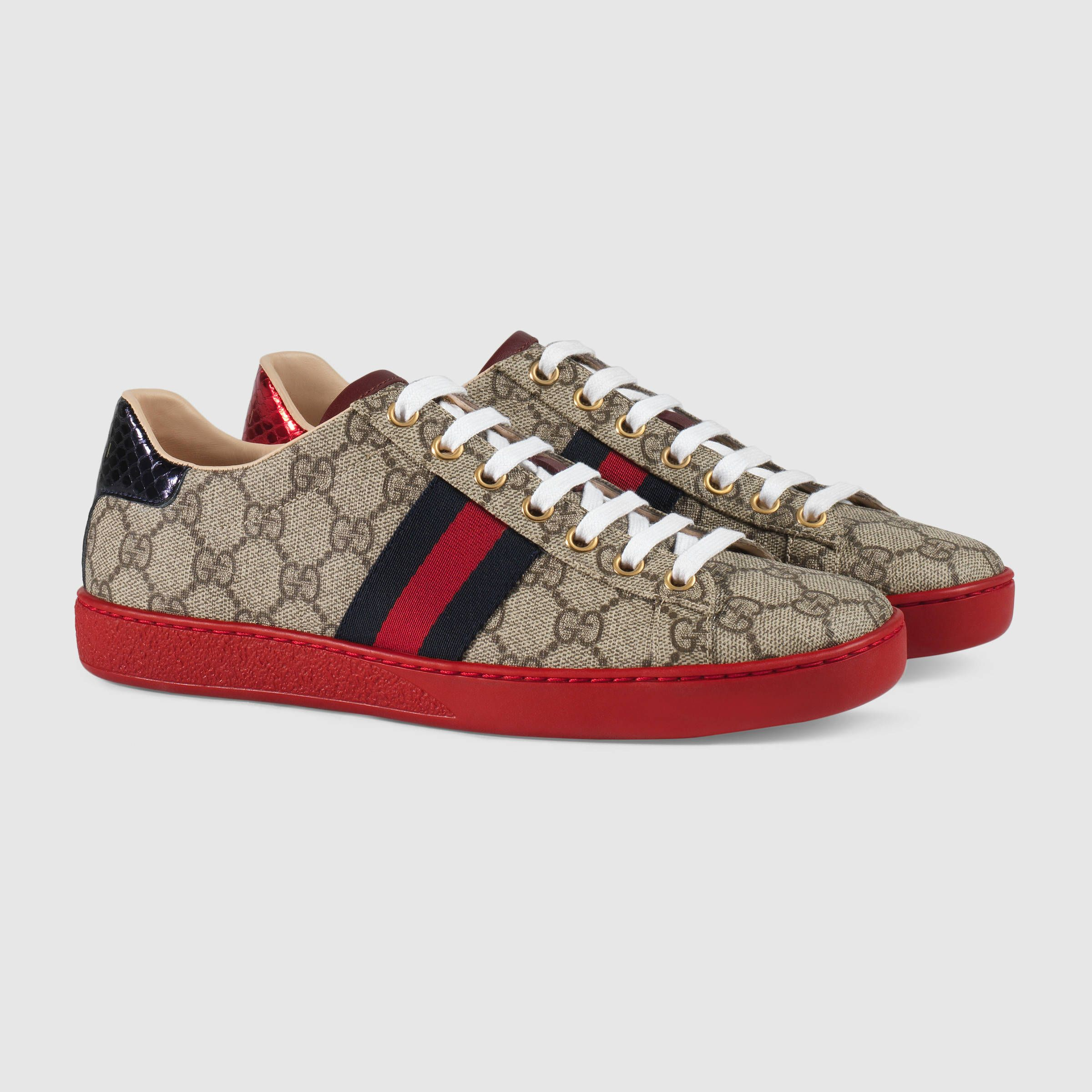708da017cf8 Gucci Women - Ace GG Supreme low-top sneaker - 433900K2LH09767 ...