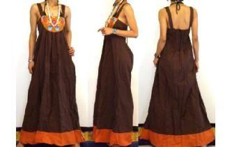 Vestido con bordado estilo mexicano, ¡hecho en Tailandia!
