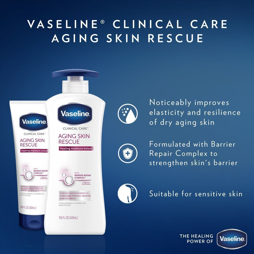 Vaseline Clinical Care Aging Skin Rescue Hand And Body Lotion 13 5oz Aging Skin Sensitive Skin Lotion Lotion For Dry Skin