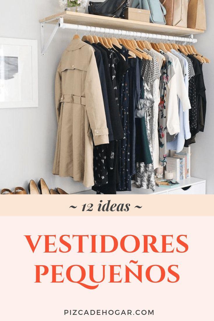 Cómo Hacer un Vestidor Pequeño y Sencillo [12 Ideas]   Como hacer un vestidor, Vestidor pequeño ...