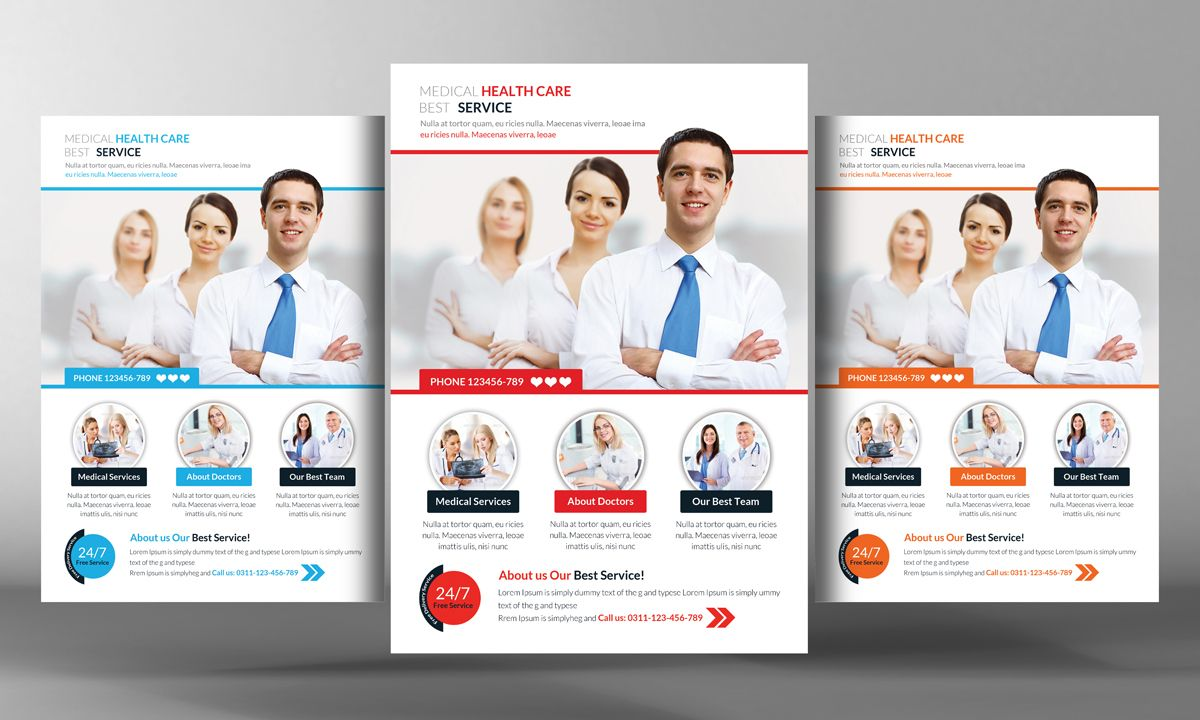 Medical Health Flyer Template By Business Templates On