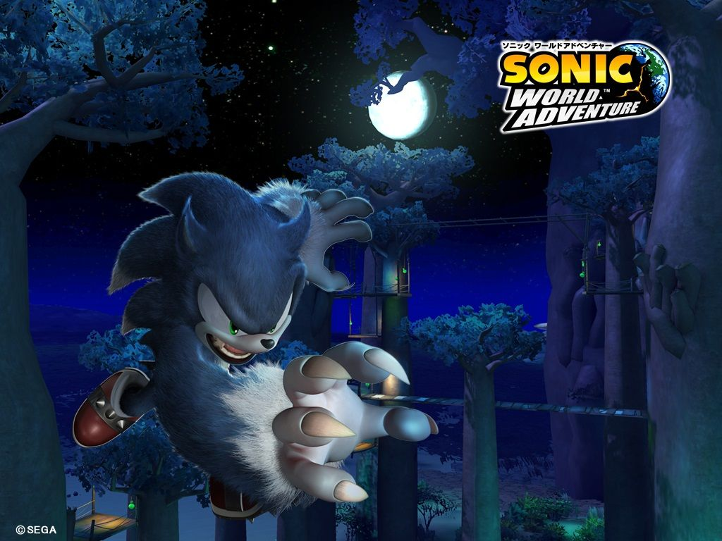 Sonic Unleashed Wallpaper With Sonics Werehog Form