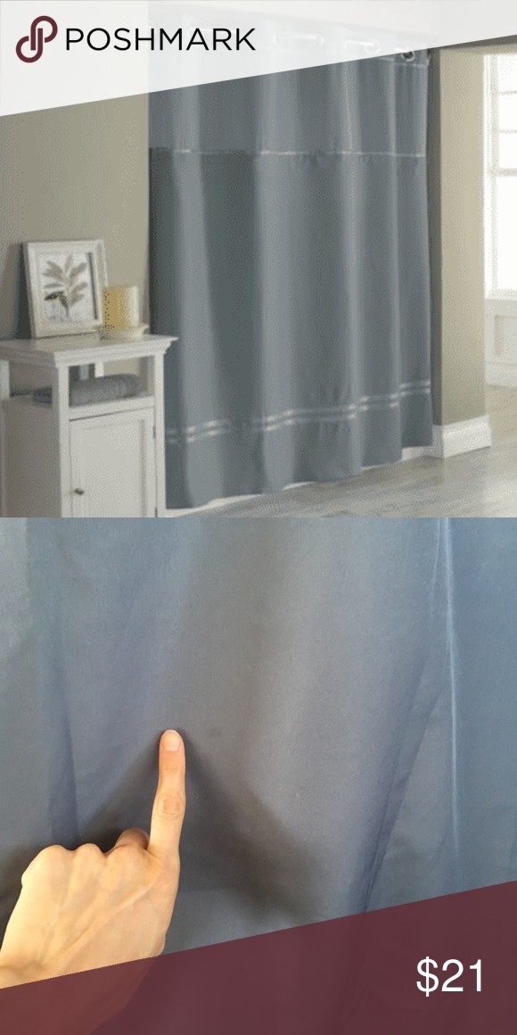 Hookless Escape Fabric Shower Curtain And Liner Hookless Escape
