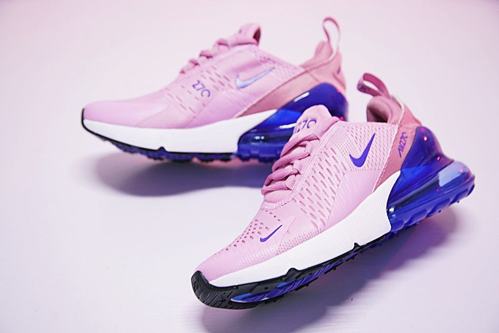 3130c541727 NIKE AIR MAX 270 POWDER PINK ROYAL BLUE SNEAKER AH8050 540