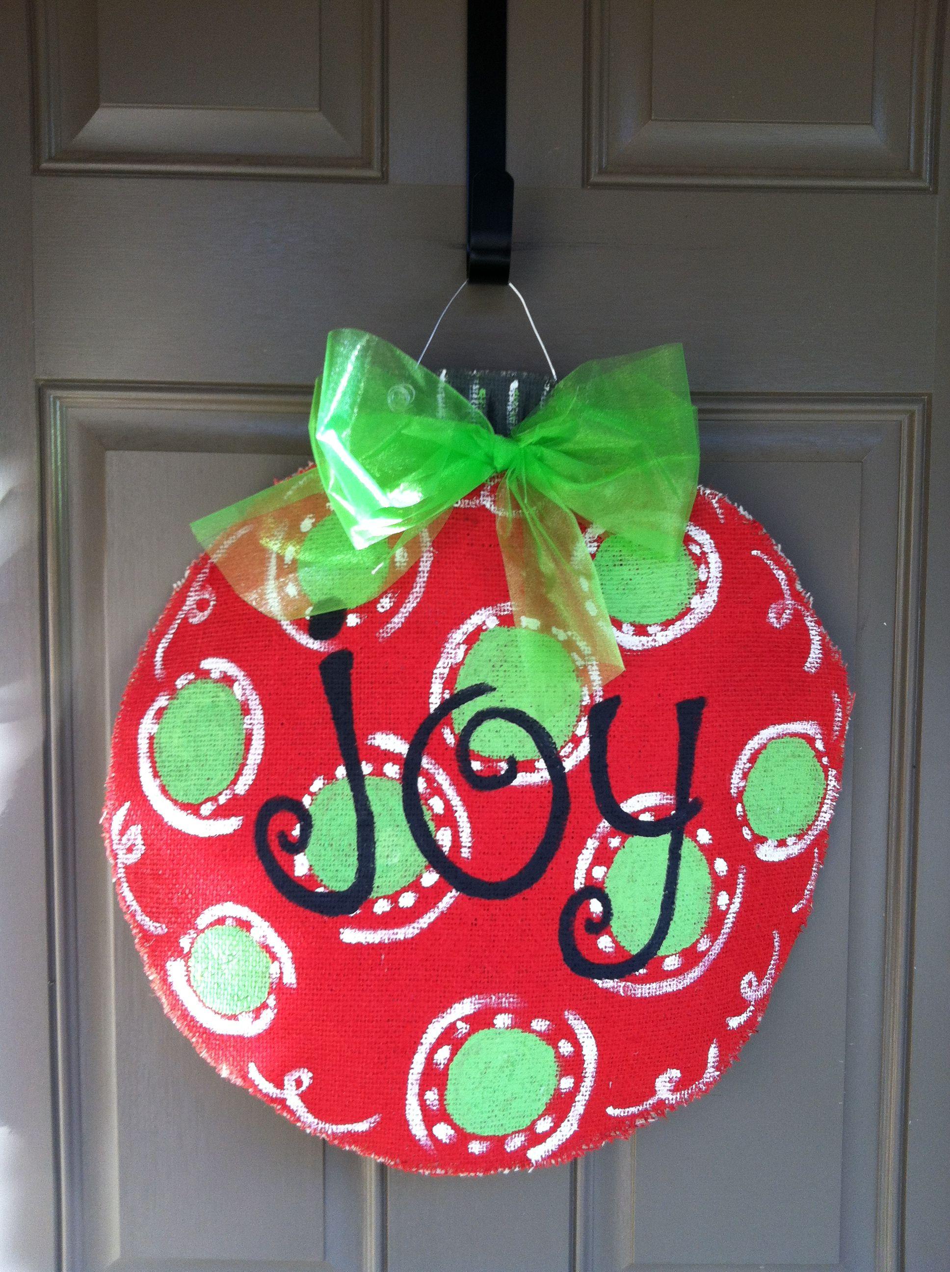 Burlap Christmas Ornament Door Hanger Cute But Need S