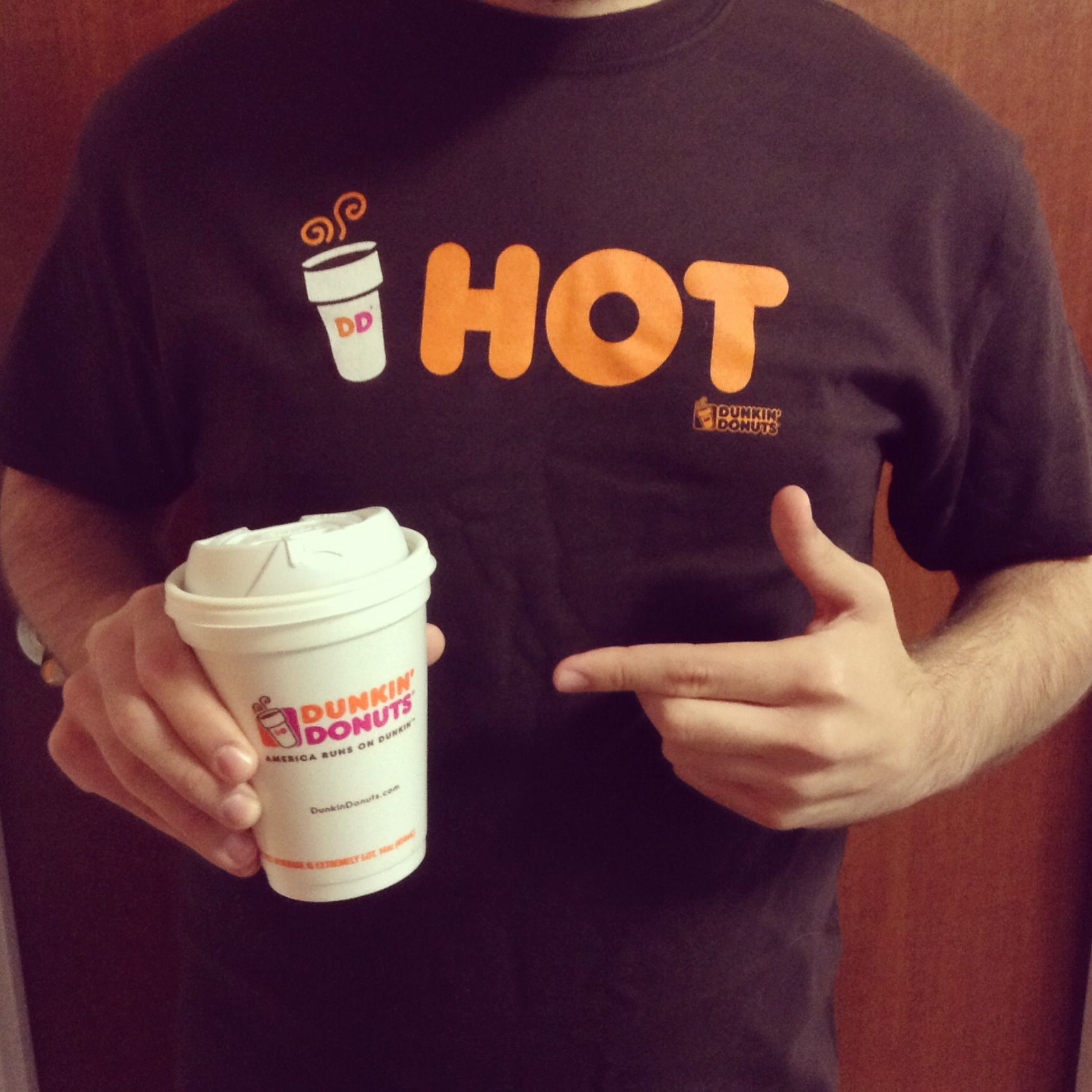 A Dunkin' T-Shirt to go with your Dunkin' Hot Coffee! Click pin to ...