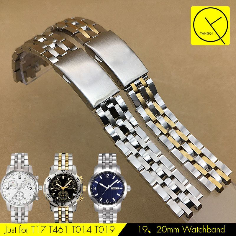 20mm Silver Stainless Steel Strap Band Bracelet fit TISSOT Watches Pins//Tool