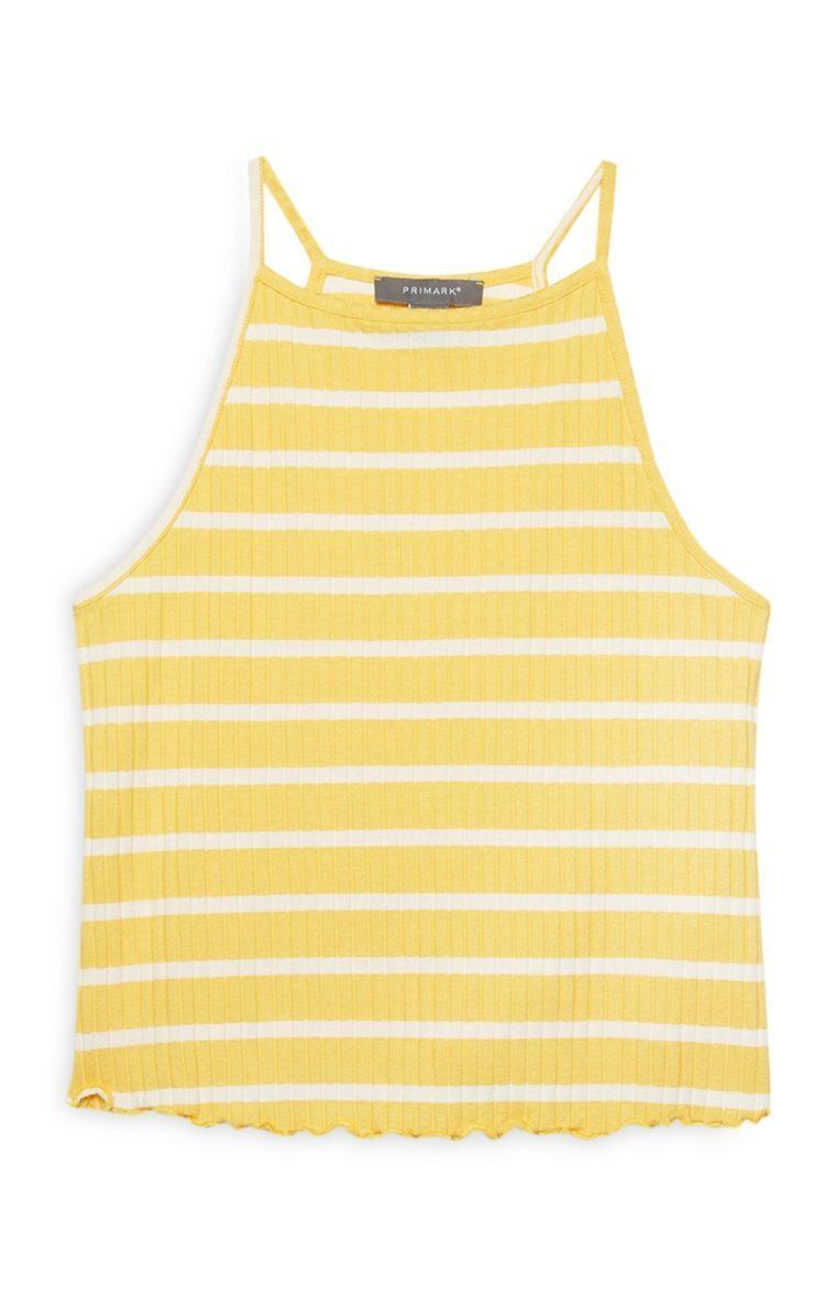 Primark - Yellow Stripe Cami Top #stripedcamitops Primark - Yellow Stripe Cami Top #stripedcamitops