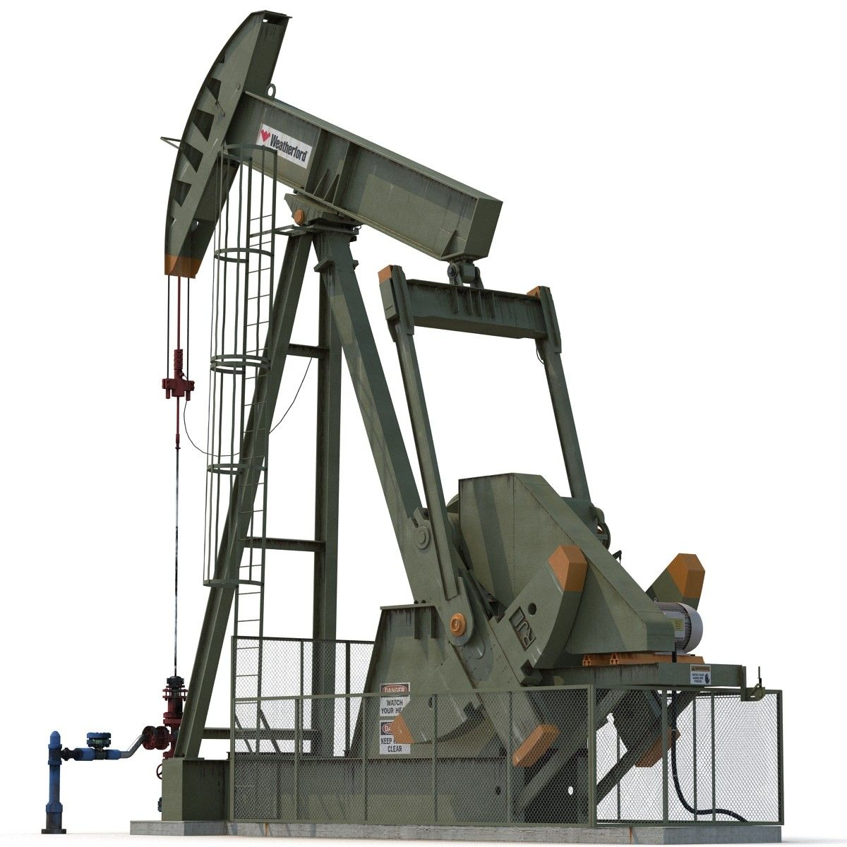Oil Pump Jack Rigged 3d Max Oil And Gas Pumps Oils