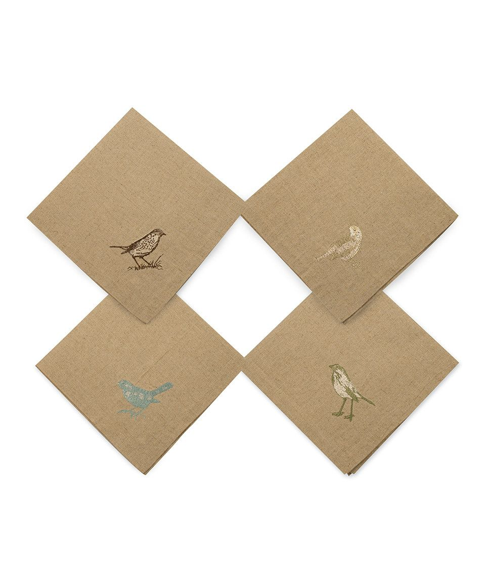 This Bird Nest Linen Napkin Set by Bethany Lowe Designs is perfect! #zulilyfinds