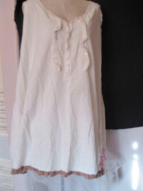 lagenlook plus size muslin dress by mollysuevintage on Etsy