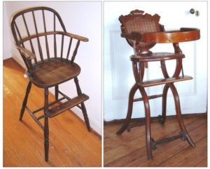 antique wooden high chair without tray projects pinterest
