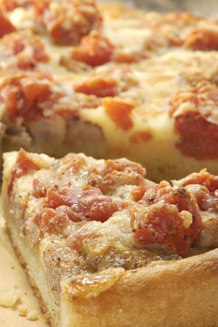 Chicago Style Deep Dish Pizza Recipe Deep Dish Pizza Recipe