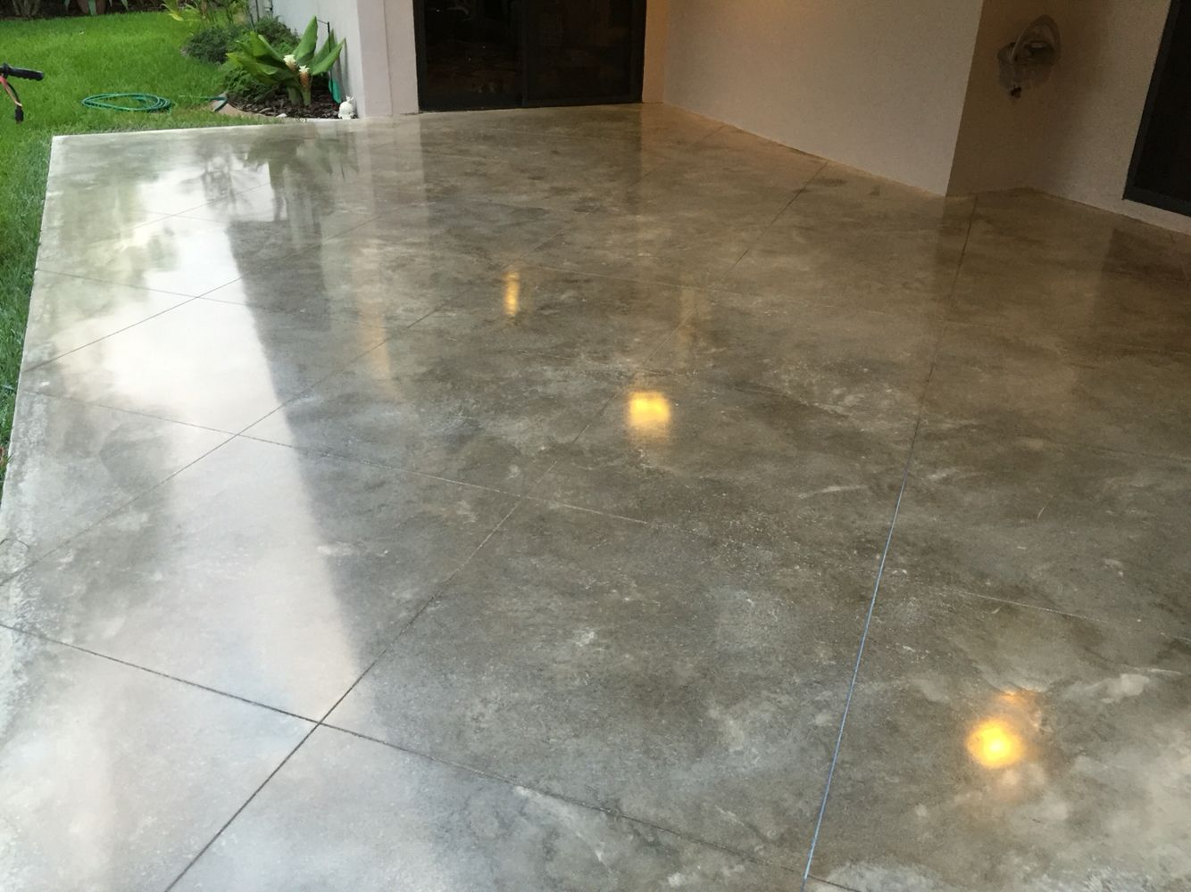 Power Troweled Polished Concrete With Miami Buff Integral Color