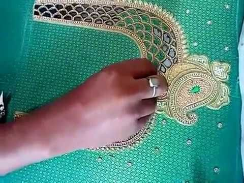 ab15ce240fea6a How to make cut work embroidery blouse design by hand?? Video tutorial -  YouTube